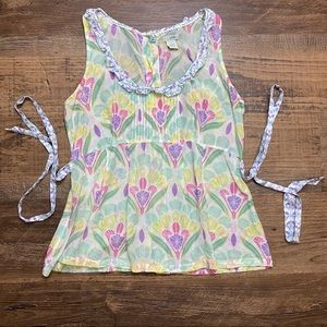 Anthro Top Odille Floral Cotton Top 8 Anthro Top